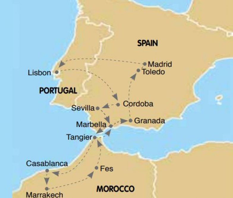 Portugal Andalucia Morocco Bus Tour